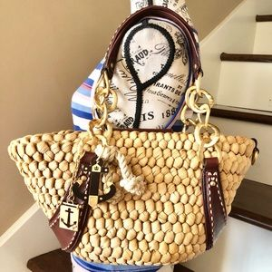 Juicy Couture Basket Weave and Leather Purse